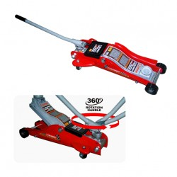 PROFESSIONAL LOW PROFILE SERVICE JACK WITH 360' ROTATION HANDLE