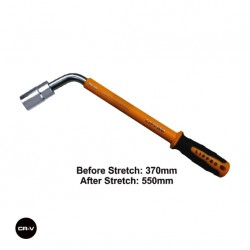TELESCOPIC WHEEL NUT WRENCH WITH RUBBER HANDLE