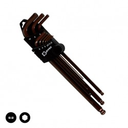 9 PCS EXTRA LONG HEX KEY WITH BALL POINT
